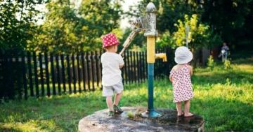 Brunnenpumpe oder Gartenpumpe